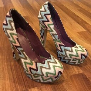 Madden Girl Multi Colored Heels